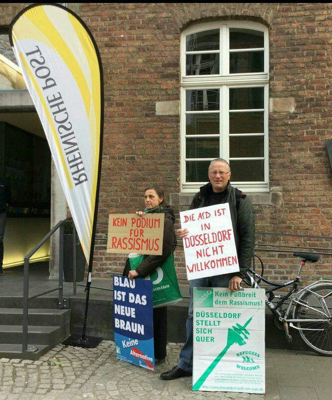 Kaspar Protest gegen die AfD